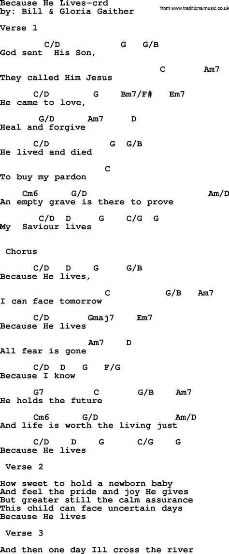 Guitar Chords For Because He Lives