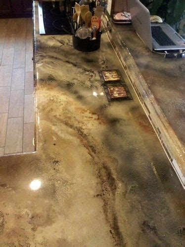 Concrete Stained Countertops by Stained Concrete Counter Tops We Ll Be Doing This