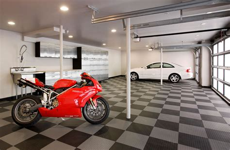style your garage garage design ideas with cabinet and hanger compartment
