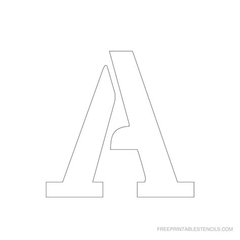 String Stencils - printable 3 inch letter stencil a has alphabet