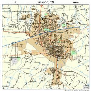 jackson tennessee map 4737640