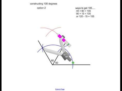 How To Draw 135 Degree Angle With Compass