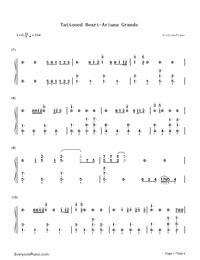 tattooed heart sheet music free tattooed heart ariana grande free piano sheet music