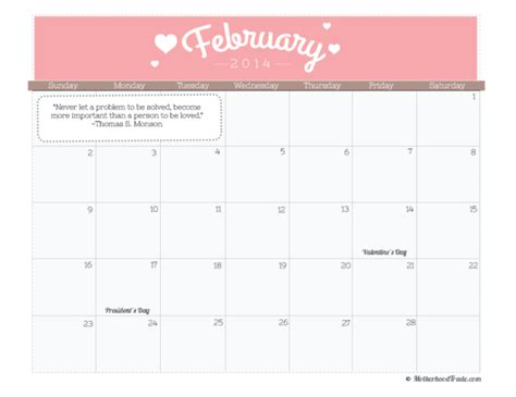 february 2014 calendar free printable tricks of the