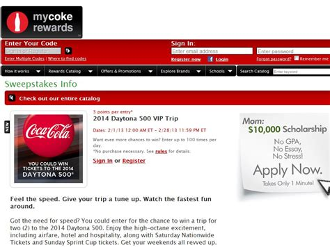 My Coke Rewards Sweepstakes - 2013 my coke rewards sweepstakes