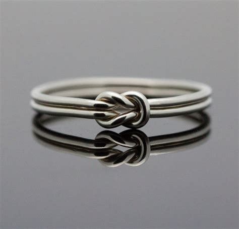 hug infinity ring sterling silver knot ring by