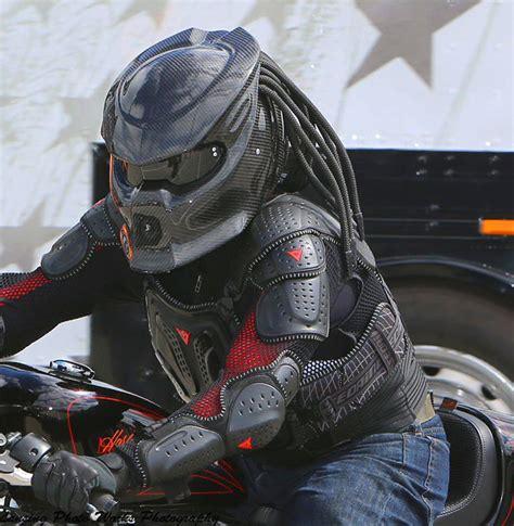 A Predator On Our Streets uh oh predator motorcycle helmet is