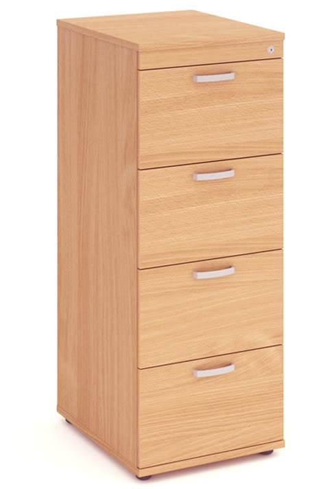 Price Point Beech Four Drawer Filing Cabinet