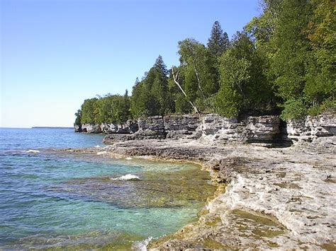 Door County Parks by Cave Point Park Wisconsin