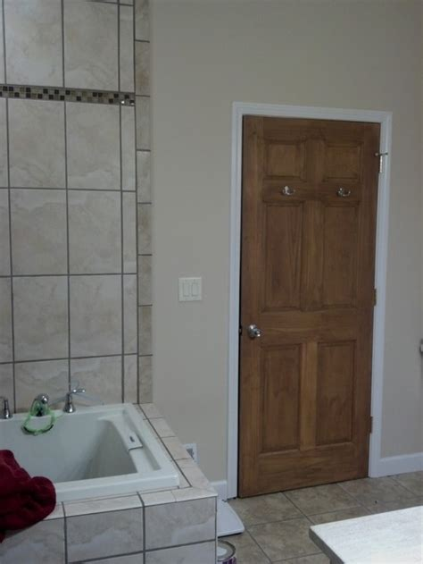 wood doors white trim keep wood door with white trim or stain everything