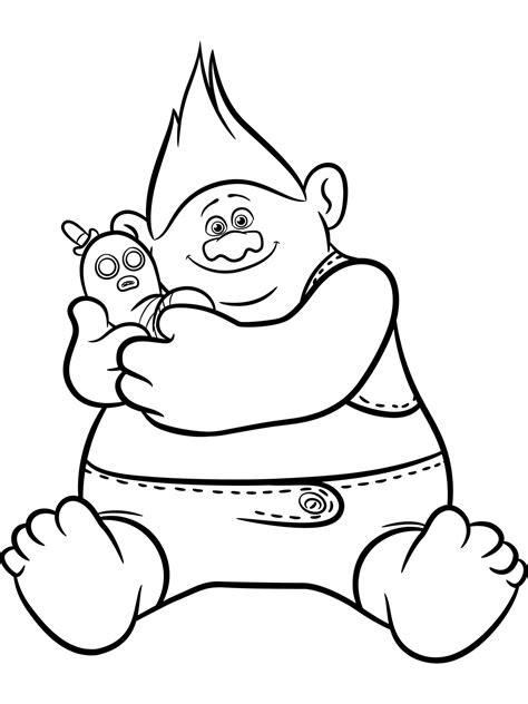 coloring pages of trolls trolls coloring pages to download and print for free
