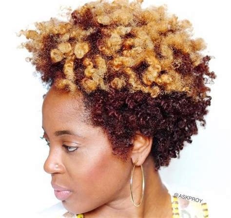 2 toned colored natural afirican american styles natural curly hairstyles for black women hairstyle for women