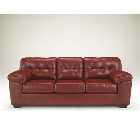 durablend upholstery ashley furniture alliston durablend leather sofa in salsa