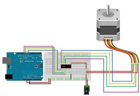 arduino 6 wire stepper motor stepper using uln2004 external power