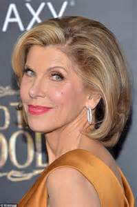 actress christine death christine baranski in satin dress at into the woods