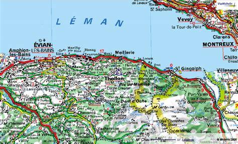 Thollon accès carte Locations vacances Thollon les Mémises Location vacance Annecy / La Thuile