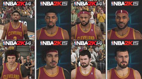 Graphics Vs Nba 2k14 2k15 | nba 2k15 graphics comparison cleveland cavaliers roster