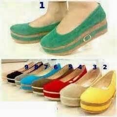 Sendal T Coklat sepatu wedges cantik abg produk fashion trendy