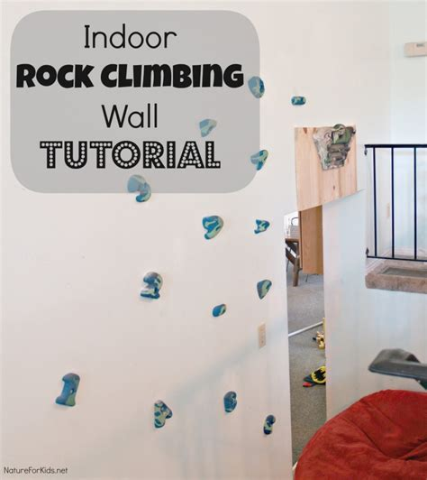 indoor rock climbing wall tutorial nature for kids