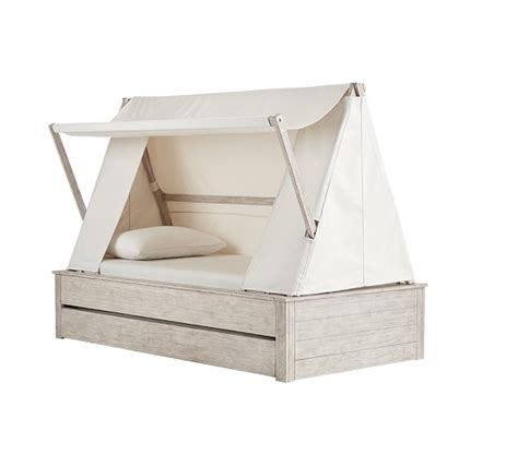 pottery barn trundle bed wyatt canopy bed and trundle pottery barn kids