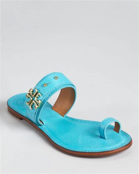 turquoise flat sandals burch flat sandals in blue bright turquoise square