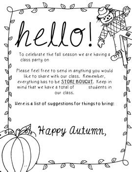 card exchange letter to parents editable fall letter to parents by sharp in second tpt