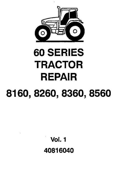 Ford New Holland / 8160, 8260, 8360, 8560 Tractors