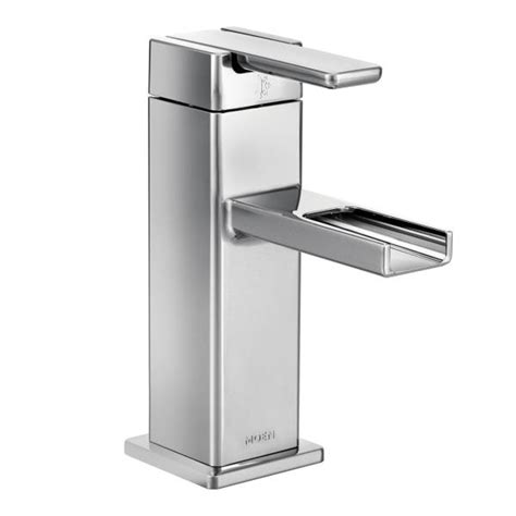 s6705 moen 90 degree series low arc bathroom faucet chrome