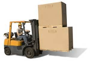 Warehouse Forklift Operator by Forklift Operator Runs Coworker