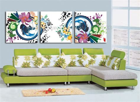 discount wall decor home accents color flowers reproduction 3 set print on canvas discount