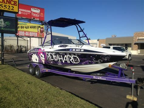 boat wraps designs for sale custom design quot ride hard quot joker wakeboard boat wrap boat