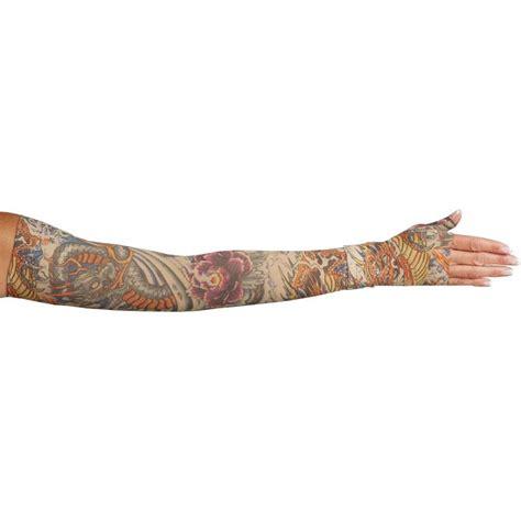 tattoo arm compression sleeve lymphedivas lotus dragon tattoo compression arm sleeve and