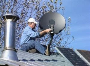 the right way to position a directv satellite dish