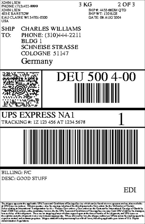 Ups Label Template upslabel html