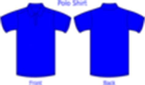 Baju Kaos Polos Med Blue by Polo Shirt Template Clip At Clker Vector Clip