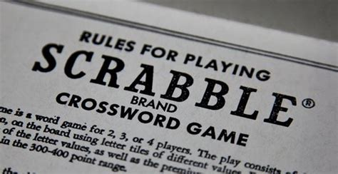 regulations in scrabble 10 peculiar for competitive scrabble