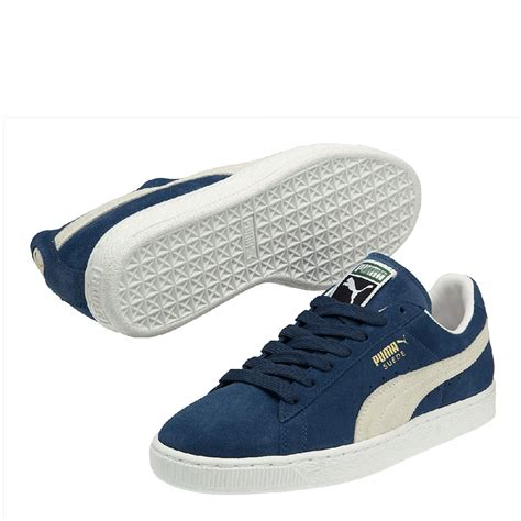 classic sneakers suede classic sneakers blue white sportus