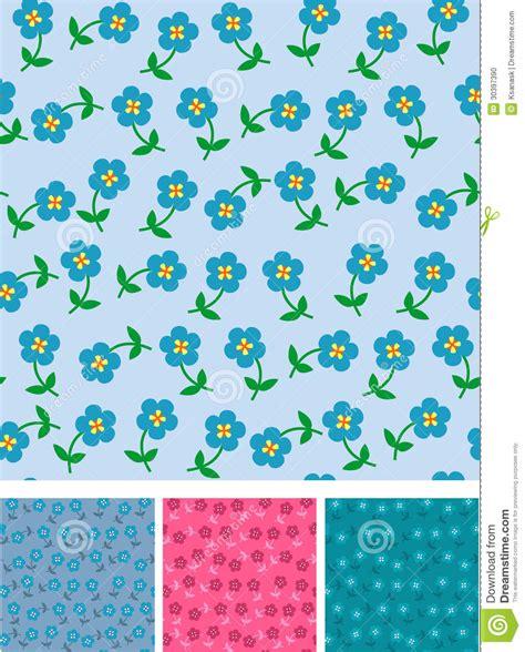 seamless pattern fill illustrator easy flowers on seamless pattern stock photo image 30397390