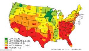 Allergy Map Usa by Pollen Map Related Keywords Amp Suggestions Pollen Map