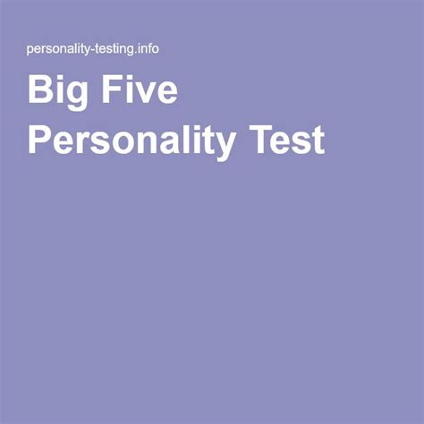 big five personality test best 25 big five personality test ideas on