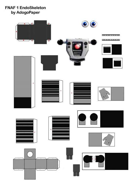 Papercraft World - fnaf world endo 01 papercraft by jackobonnie1983 on deviantart