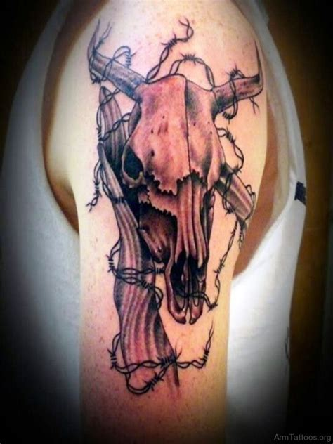 bull head tattoo 52 great looking bull tattoos for arm