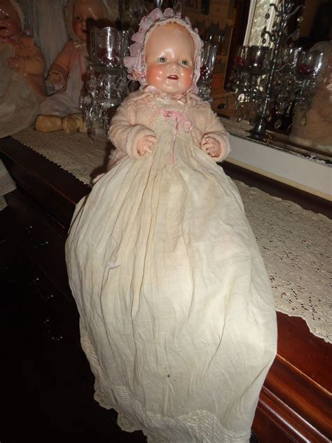 composition doll dimples composition doll 19 antique baby dimples doll w antique