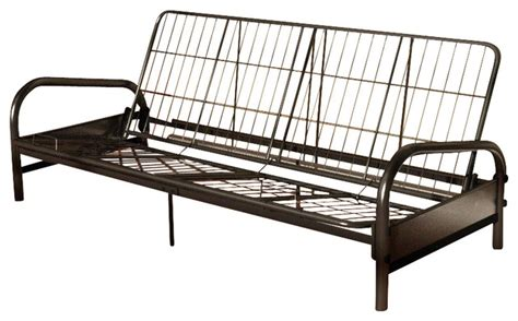 futon metal frame dorel home products vermont metal futon frame in black