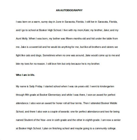biography template 20 free word pdf documents download