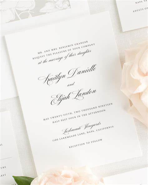 Wedding Invitation Collections by Kaitlyn Wedding Invitation Collection Shine Wedding