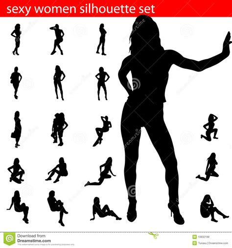 sexy stock photos royalty free images vectors women silhouette set stock vector image of shape black