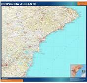 Mapa Provincia Alicante  Mapas Posters Mundo Y Espa&241a