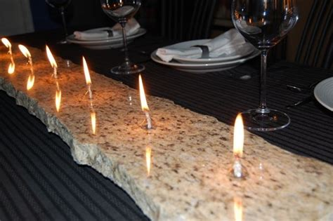 red table runner with 5 led lights juperana gold light candle table runner home inspiration lights granite table