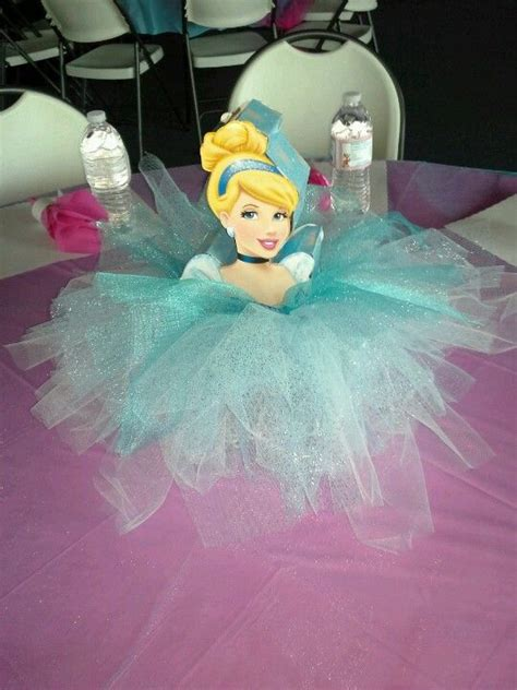 cinderella centerpieces girl birthday party ideas